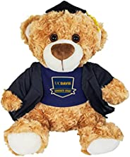 Mascot Factory UC Davis 毕业填充动物毛绒玩具,带帽袍和 T 恤 - 10 英寸(约 25.4 厘米)
