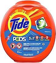 Tide PODS 洗衣液 肥皂 PODS,效果很好(HE),原香,81片