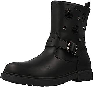 Geox 女童 Big_Kid ECLAIRGIRL 12 黑色及踝靴