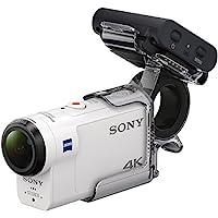Sony 索尼 FDRX3000RFDI.EU R AKA-FGP1超高清4K游戲動態攝影機,帶平衡光學防抖系統,新型實時取景遙控和手指握把-白色/黑色
