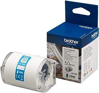 Brother 兄弟 CZ-1005 无墨水卷式盒式墨盒,连续长度,50 mm (W) x 5 m (L),Brother 正品用品,白色