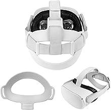 Zaracle 柔韧柔软 TPU 头垫,适用于 Oculus Quest 2,舒适头带垫头垫,减少头部压力(灰色)