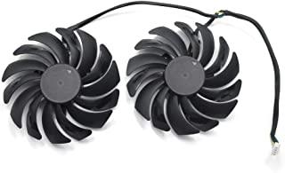 95 毫米显卡风扇替换件 适用于 MSI GTX 1070,1080 Ti Gaming X,RX 480/580 Gaming X 显卡散热风扇