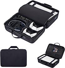 JINBAO 保护套收纳袋,适用于 Playstation 5,硬壳便携包,旅行包,防震防水储物袋,便携式保护套兼容 PS5 控制台,控制器和配件