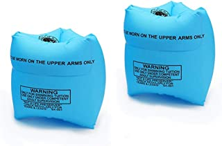 Floaties 儿童充气臂浮动游泳卷臂带空气浮臂套游泳环工具管臂臂套适合儿童幼儿和成人初学者
