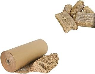 Isccdy 蜂窝缓冲包装纸 1 卷 15 英寸 X 164 英尺适用于运输礼品包装和缝隙填充(15 英寸 x 164 英尺,棕色)