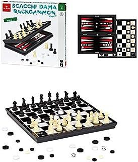 来自 Negro Scacchi/DAMA/Backgammon 磁性Giochi 桌游(塔斯卡,多色,8001097539727