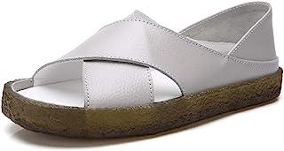 女式平底凉鞋加垫鞋垫舒适*海绵真皮鞋露趾凉鞋果冻鞋底尺码 6.5 7 7.5 8 8.5 9 9.5 10