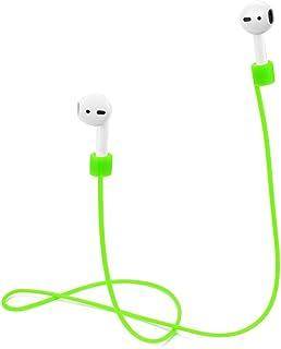 TOP CASE - AirPods 肩带,软硅胶运动耳机,防丢肩带,电线连接器,适用于 Apple AirPods 无线耳机 - *