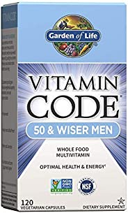 "Garden of Life ""生命花园""男用综合维生素 - Vitamin Code 50 & Wiser 男用原生态全食品维生素补充剂,含益生菌,素食,120"