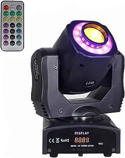 移动头 DJ 灯 60w LED 舞台灯 Dmx 512 声控 3 光束灯 Dj 24 Gobo DJ 灯 适用于夜总会灯、迪斯科、舞台、灯光秀、婚礼、乐队、图案旋转、DJ 照明