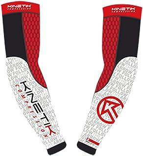 Kinetik UV *运动压缩袖套袖套适合青年、男士或女士 - 棒球足球篮球骑行高尔夫(1 双)