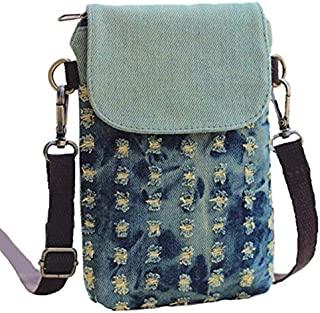 Yingkor 棉质印花女士手机钱包小号斜挎包钱包袋包
