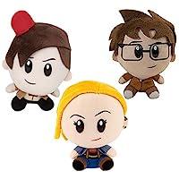SCS Direct Doctor Who SuperBitz 3 件装 - 10、11、13th Doctor 收藏毛绒公仔 - 4.5 英寸
