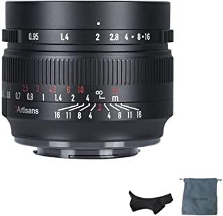 7artisans 50mm F0.95 大光圈手动对焦 Prime 固定镜头 APS-C 适用于富士FX-安装无反光相机,如 X-A1/X-A2/X-A3/X-A5/X-A7/X-A10/X-A20