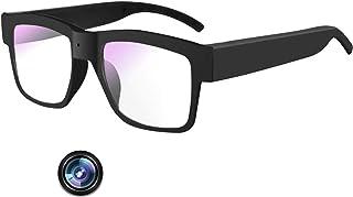 相机眼镜 1080P,视频眼镜全高清录音相机,适用于室内和室外,记录场景或行车记录仪(包括 32G Micro SD 卡)