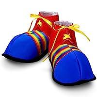 """巨型小丑鞋彩虹条纹万圣节服装 1-包每包 1 条 """"Multi"""""""