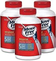Move Free 益节 葡萄糖胺=软骨素+ msm和d3补充剂(一瓶120粒),每盒3瓶,360粒