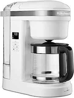KitchenAid 5KCM1208BWH 滴式咖啡机,螺旋淋浴头 - 白色