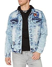 Southpole 男式 Aian 实用优质时尚牛仔夹克