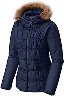 Columbia Sparks Lake 人造革-Fur-Trim 保暖线圈棉夹克 蓝色