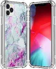 IWONE 手机壳适用于 iPhone 12 Pro Max 大理石设计师橡胶耐用保护皮套防震兼容iPhone 12 Pro Max 美丽可爱花岗岩