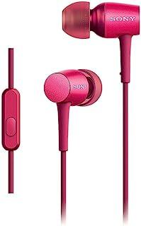 索尼 SONY 耳机 h.ear in MDR-EX750AP : 支持高分辨率 入耳型 遥控器 带麦克风 *红色 MDR-EX750AP P