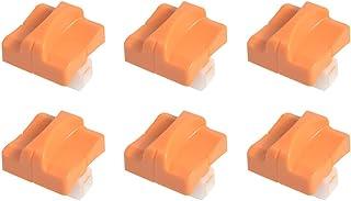 6 件刀片替换件 适用于 A4 切纸机 带自动*保护 MOTASOM 钛切纸刀片 用于切割卡片库存、优惠券、标签、照片(橙色)