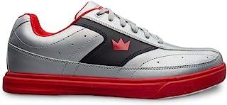 Brunswick 男士 Renegade Flash 银色/红色保龄球鞋