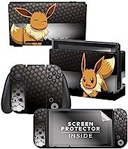 "Controller Gear 官方*任天堂 Switch 皮肤和屏幕保护膜套装 - Pokémon - ""Eevee Elemental&"