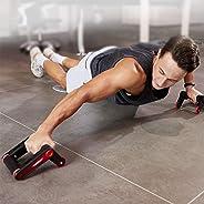 HARISON 可折叠 AB 滚轮核心强度腹部训练器,带护膝和阻力带,适用于家庭办公室锻炼