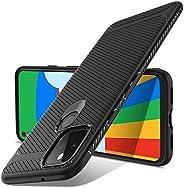 Luibor 适用于 Google 谷歌 Pixel 5 手机壳,黑色硅胶手机壳,适用于 Google Pixel 5 手机,防刮手机壳,Google Pixel 5 手机保护壳