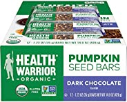 Health Warrior - Pumpkin Seed Superfood Bar Dark Chocolate - 12 Bars