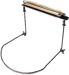 MUPOO 口琴支架颈架支架可调节,适用于舞台工作室,10 孔