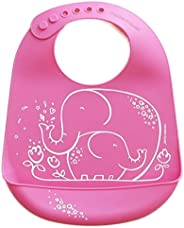 美国Modern+Twist 可调节硅胶围嘴围兜-拥抱的大象 安全无毒便携防水