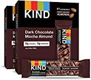 KIND Bars, Dark Chocolate Mocha Almond, Gluten Free, Low Sugar, 1.4 Ounce Bars, 24 Count