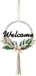 Avalizard Welcome 花环前门农舍门装饰 欢迎标牌 高级*环保欢迎家居标牌 悬挂前门廊 家居装饰