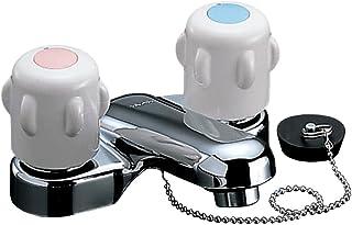 LIXIL(骊住) INAX 洗脸盆用 带台 2把混合水龙头 橡胶塞式 出水口 95mm RLF-401