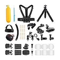 AKASO 戶外運動動作相機配件套件 14 合 1 適用于 AKASO EK7000/ EK7000 Plus/ EK7000 Pro/Brave 4/ V50 Pro/ V50 Elite/CAMPARK/Go Pro Hero 5,適合游泳任何其他戶外運動