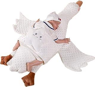 婴儿便携式床舒适枕头天鹅白鹅棉厚新生儿躺椅床舒适*多功能婴儿排气舒适枕头(棕色)