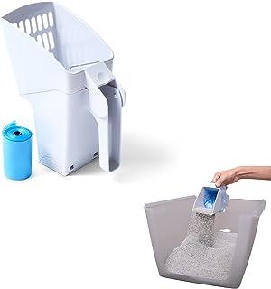 PURRFECT POUCH 猫砂铲大容量带内置袋架,勺子和袋同时(包括 1 卷垃圾袋)