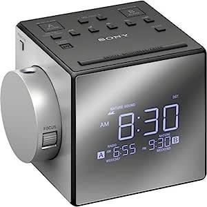 Sony 索尼 Compact AM/FM 双收音机闹钟,银色