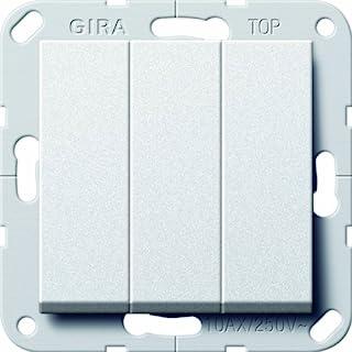 Gira 283226 三重摇臂开关,系统 55,炭灰色。