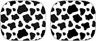 Suobstales 牛印花汽车遮阳罩时尚耐用汽车遮阳罩户外窗帘前窗贴纸