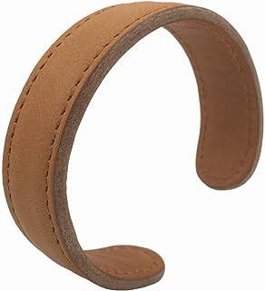 MLD 手工中性款真皮手链,可调节袖口腕带,朋克皮革包裹