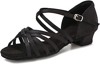 hxyoo 室内女式舞鞋适用于 Salsa 舞厅拉丁 wk035