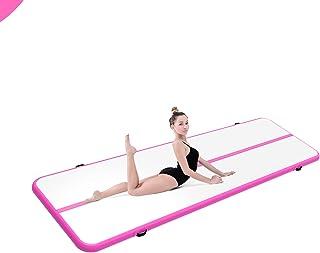10 英尺/14 英尺/16 英尺/20 英尺充气体操路径翻边垫充气轨道垫练习体操轨道适用于家庭/训练/啦啦队/瑜伽/水/户外运动