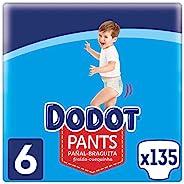 Dodot Pants 尿布 – 三角褲尺寸 6,135 片尿布 15 千克 + 尿布 – 三角褲可 360° 調整,防漏