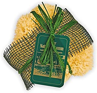 Croll & Denecke MJ161 地中海天然海绵,装饰性绿黄麻包裹