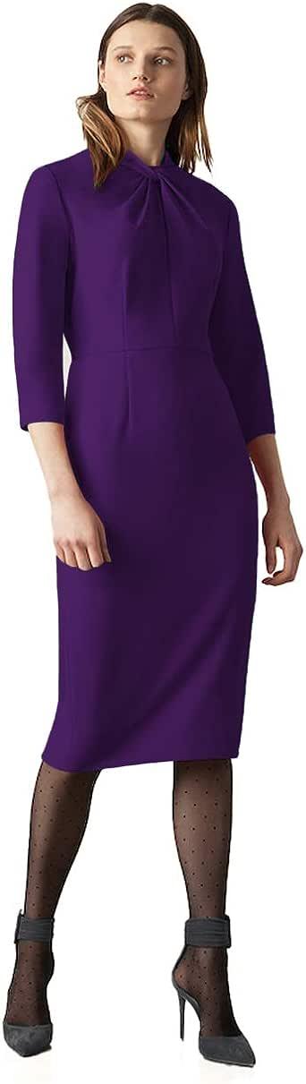 Donna Morgan 女式打结绉纱紧身连衣裙